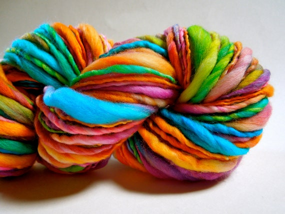 Nerds Thick and Thin Handspun Yarn- Reserved for power745