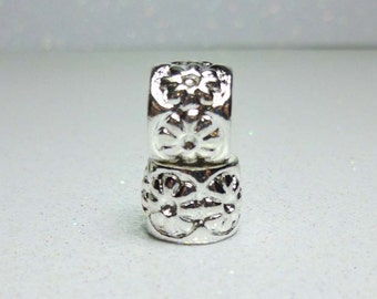 Spacer Bead  For European Style Charm Bracelet - Silver Plated