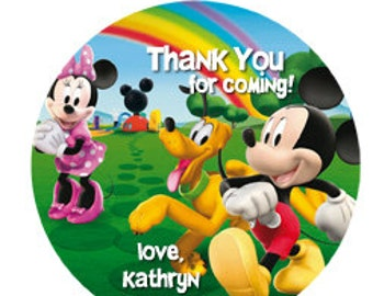 Mickey Mouse Clubhouse Favor Tags Digital File