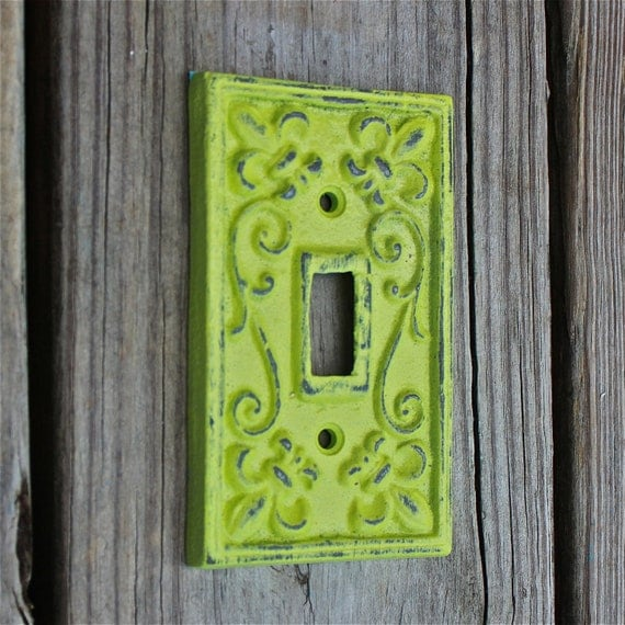 Lime Green Decorative Light Switch Plate Single By