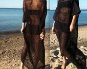 Oversized Shredded Black Dress
