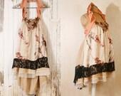 Babydoll dress Pink dress Halter dress Silk dress Fairy dress Short wedding dress Backless dress Mini dress upcycled dress RESERVED