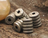 10 pcs - findings - supplies - supply - jewelry supplies -  silver plated - beads - silver plated drilled tube spacers.