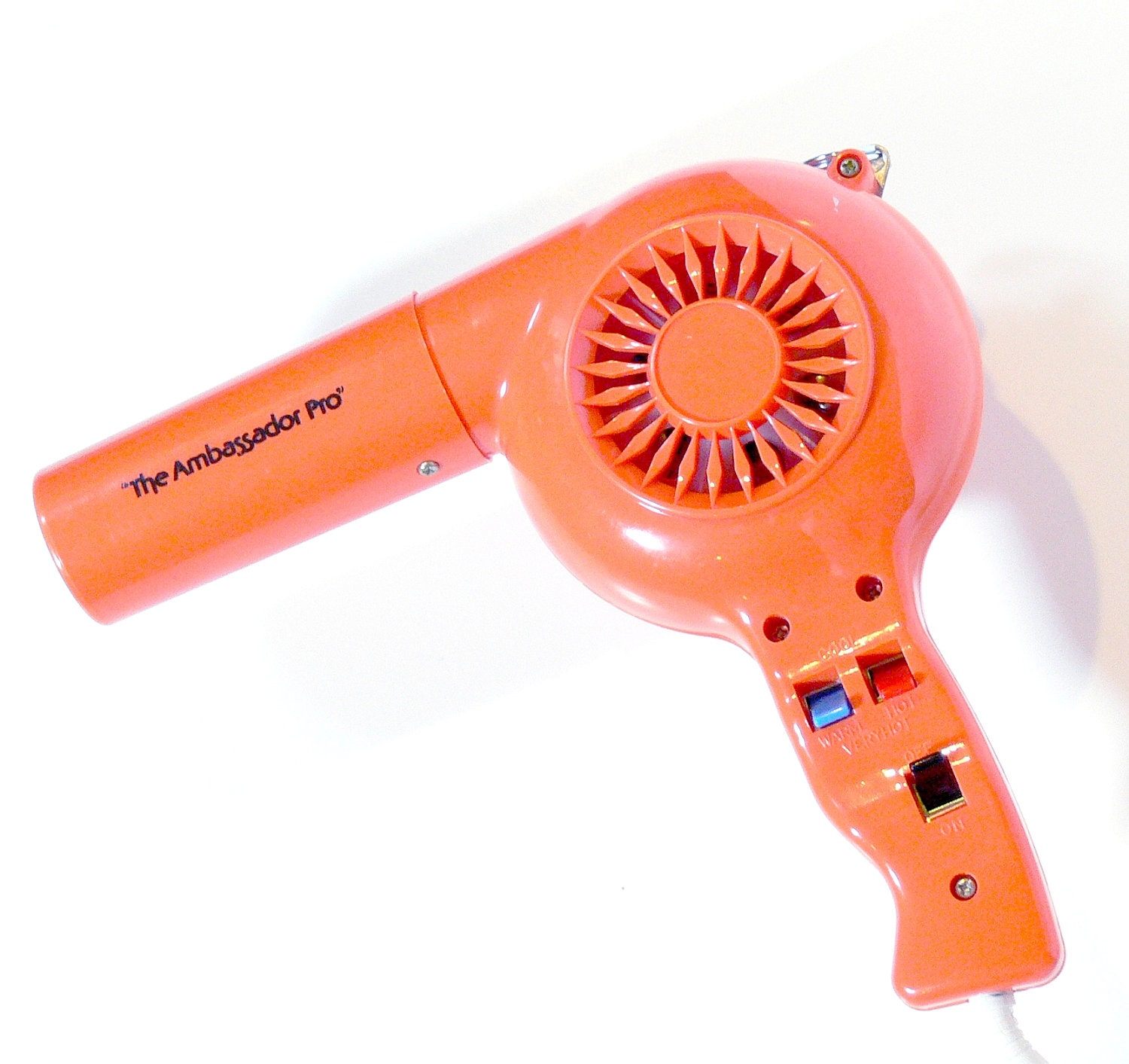 Vintage Orange Blow Dryer Hair Dryer 1970s