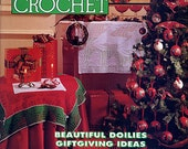 Magic Crochet No 92 Oct 1994 Pattern Book, Christmas Crochet, Ornaments, Snowflakes, Doll Dress, Sweaters, Candle Wreath, Tablecloths