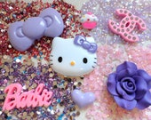 hello kitty deco kit, DIY resin flatback, cabochon, kawaii