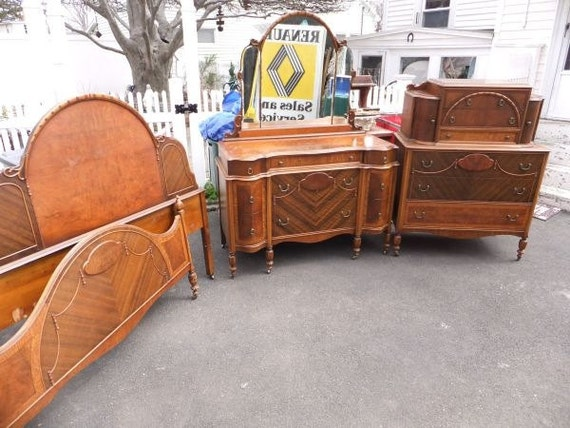 Items Similar To 1930's Art Deco 5-Piece Bedroom Set On Etsy