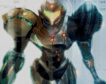 Metroid Echoes Cross Stitch Pattern