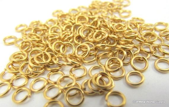 100 Jewelers Brass Jump Rings, Saw Cut, 20 ga 1/8