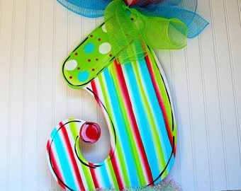 Christmas Door Hanger, Christmas Stocking Door Decoration, Christmas Door Wreath