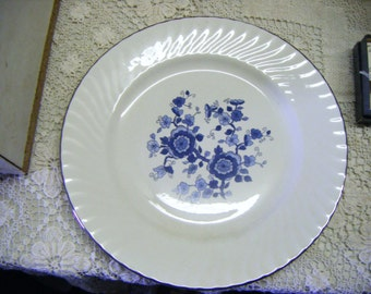 Wedgwood & Co Ltd England Royal Blue Ironstone Dinner Plate