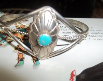 Turquoise and Silver Cuff Bracelet  Native American Thanksgiving, Black Friday, Cyber Monday, Christmas