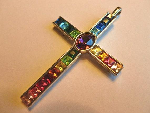 EXQUISITE Austrian Crystal Designer Cross Pendant