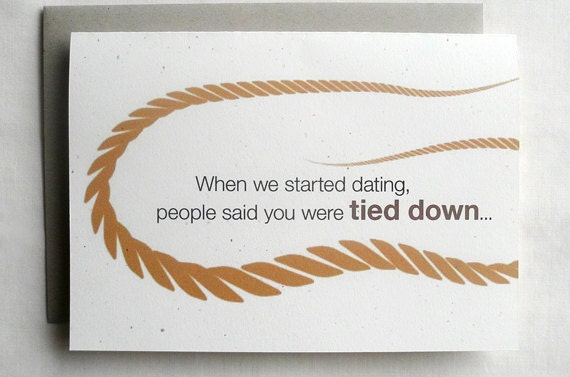 Anniversary card funny when we started dating