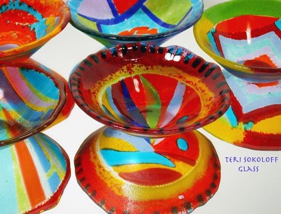 Contemporary Art Glass Bowl