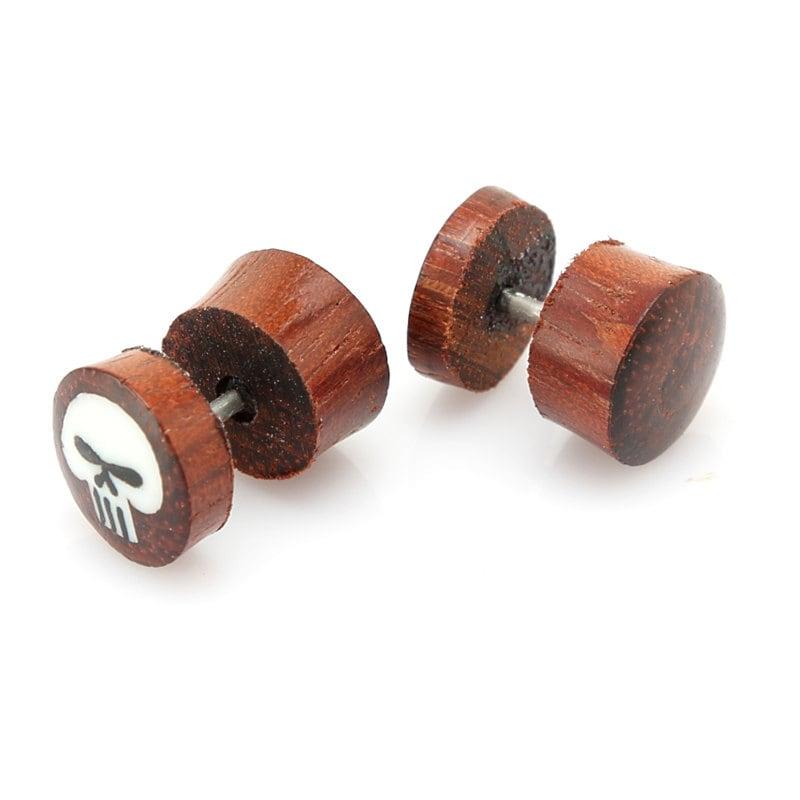 fake gauge earrings rosewood tribal earrings fake gauges. Black Bedroom Furniture Sets. Home Design Ideas