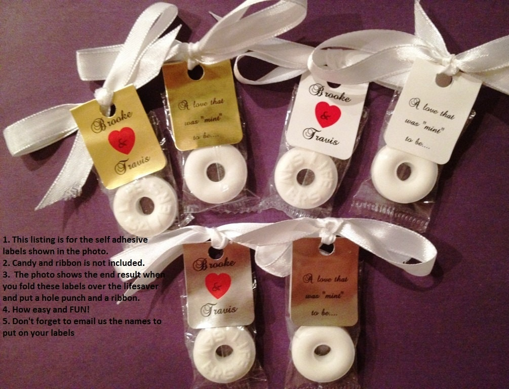 Cheap Wedding Favor Ideas Pinterest : 30 Personalized Lifesaver Favor Labels for Wedding or Party