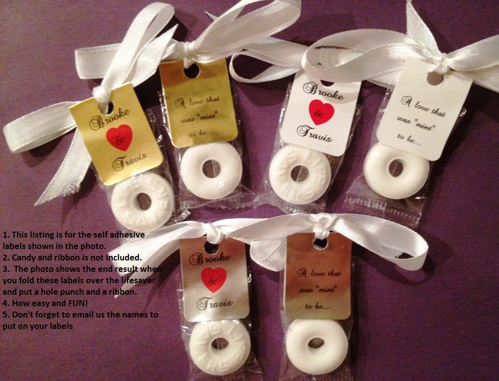 30 Personalized Lifesaver Favor Labels for Wedding or Party