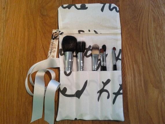 Makeup Brush Roll/ Crochet hook organizer