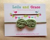 Sage Green Chiffon Baby Headband, Toddler Headband