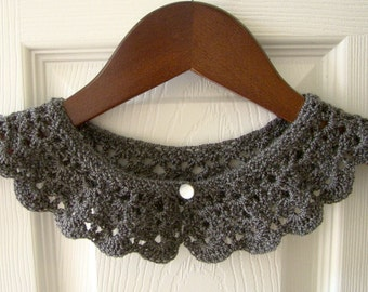 Knitting Pattern For Lace Collar : peter pan collar crochet knit