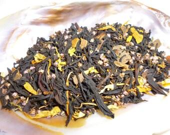 1 ounce Fall Court - Pumpkin vanilla and cinnamon black loose leaf tea