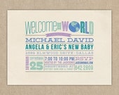 Baby Shower Invitation / Baby Shower /  DIY PRINTABLE / Faux Letterpress
