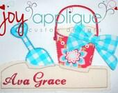 Beach applique tshirt/pool birthday/beach party/beach birthday party/ summer tshirt/sand/shovel/pail