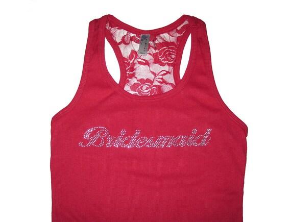 Lace Bridesmaid Tank Top, Team Bride, Bachelorette Party Shirts, Bride Shirt, Bride Tank, Bridesmaid Gift, Bridesmaid Proposal, Bride Tank
