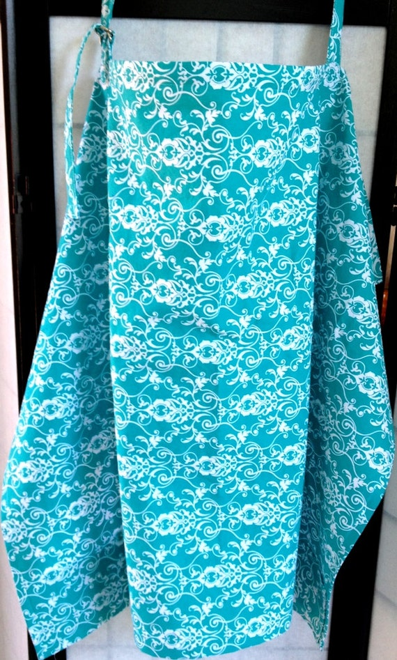 Turquoise and white Nursing cover