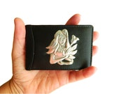 Leather Credit Card Holder Pisces Gift