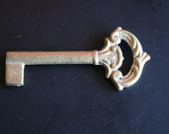 71 mm Raw Bare Naked Brass Skeleton Real Key Charm Jewelry Finding