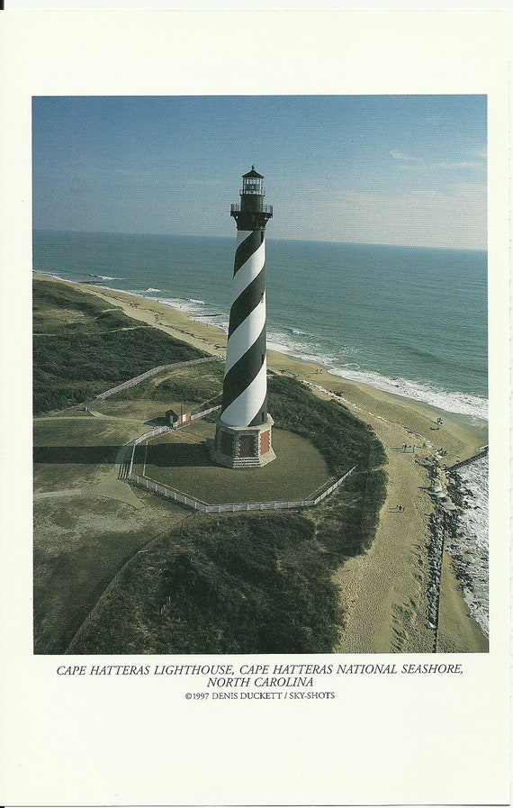 Cape Hatteras Lighthouse, Cape Hatteras National Seashore, North Carolina -  Vintage Lighthouse Book Print