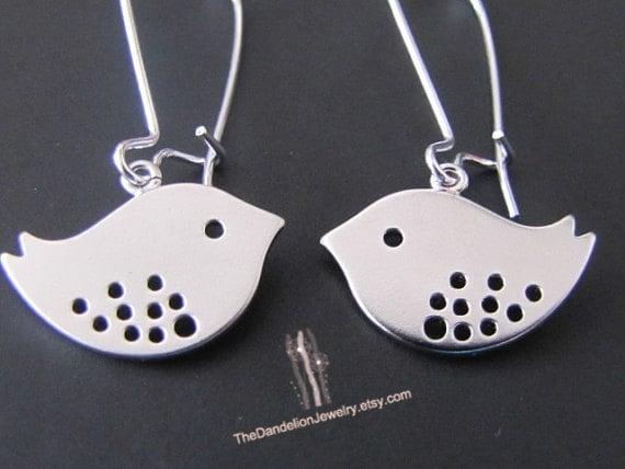 SALE 10% OFF: Cute mod Bird Earrings Dangle Earrings Drop Earrings Jewelry Gift