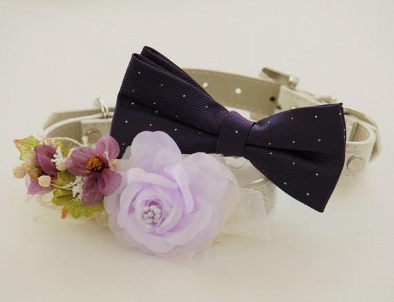 Purple Wedding Dog Collar Wedding Accessories Purple