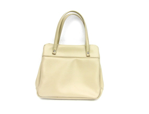 Soviet ivory vintage handbag leather retro made in USSR for women