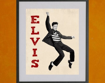Elvis Jailhouse Rock Print  - 8.5x11 Poster Print - also available in 13x19 - see listing details