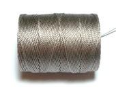 Silver C-Lon Bead Cord, 1 Bobbin of 92 Yards - Item 714