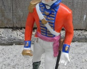 1845 Officer of British Army Figurine Royal Lancers Germany Volkstedt