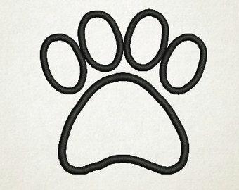 Paw Print, Applique Paw, Mascot, Applique Designs (64) Instant Download