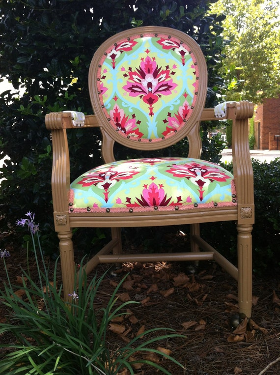 Reserved for Pooja French Louis Accent Chair: Summer