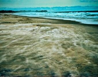 Sand Storm Figure 8 Island, Wilmington, North Carolina-Color-Fine Art Photography-multiple Sizes Available, Beachouse,Blue, Beach