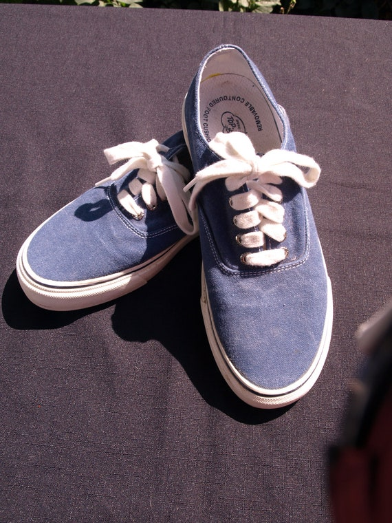 Denim Blue Top Siders by Sperry excellent vintage condition size men 9