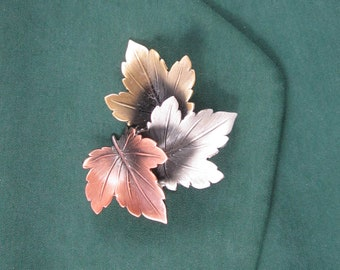 Maples Leaves Brooch- Leaves Jewelry- Fall Leaves- Autumn Leaves