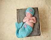 Newborn Mermaid Photo Prop set