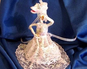 Sherry, the Spirit of the Wine Cork, Dragon Ghost Fantasy Art Doll