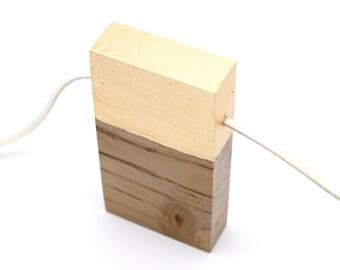 Minimalist Necklace Contemporary Wood Jewelry Conceptual Jewelry Monterey Cypress Wood