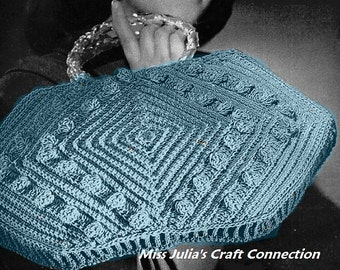 Almost FREE Vintage1940s Vintage Sophisticated Charmer Purse 238 PDF Digital Crochet Pattern