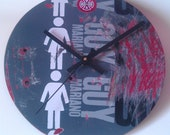 Recycled Skateboard Clock - Girl No. 119
