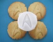 STAR TREK inspired Commander COOKIE Stamp, recipe and instructions - make your own Trekkie inspired cookies